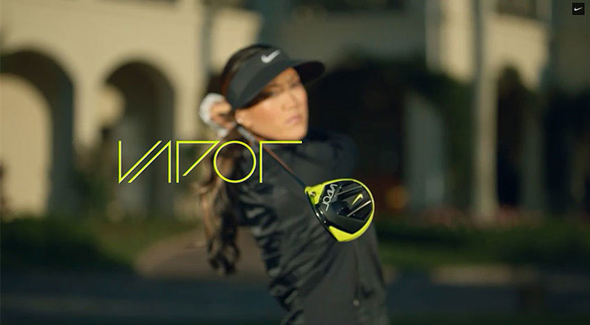 The new commercial for Nike Golf features LPGA player Michelle Wie.