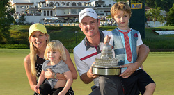 Justin Rose and family