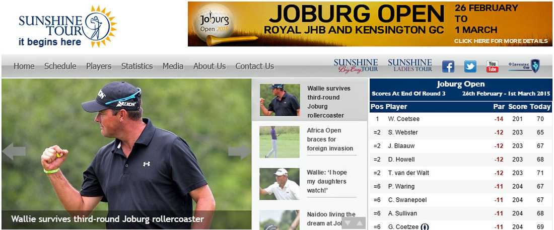 Wallie Coetsee takes a two-stroke lead into the final round of the Joburg Open.