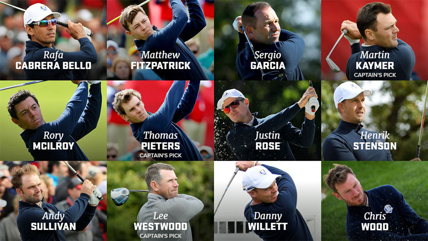2016 Ryder Cup Team Europe (Getty Images)