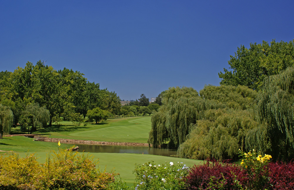 The view from behind the 10th at Glendower Golf Club